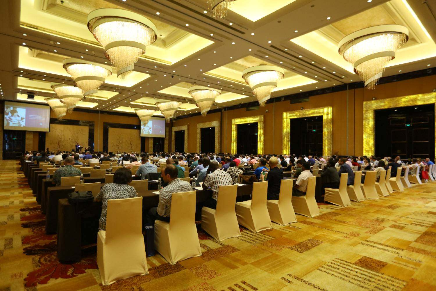 Attendees at Dipont's annual conference in Wuxi