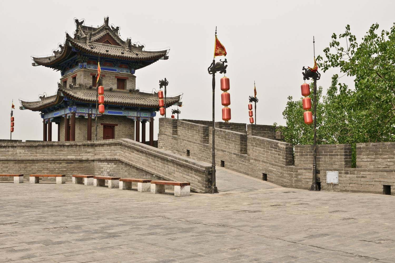 The city wall in Xi'an, China
