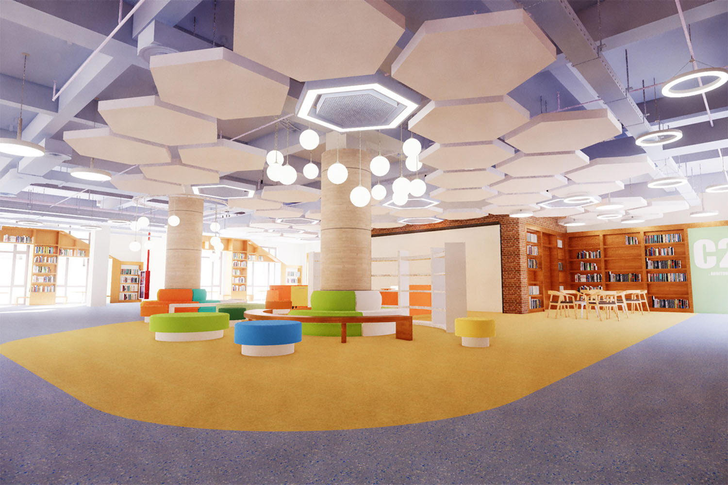 An artist's impression of the interior of the new school