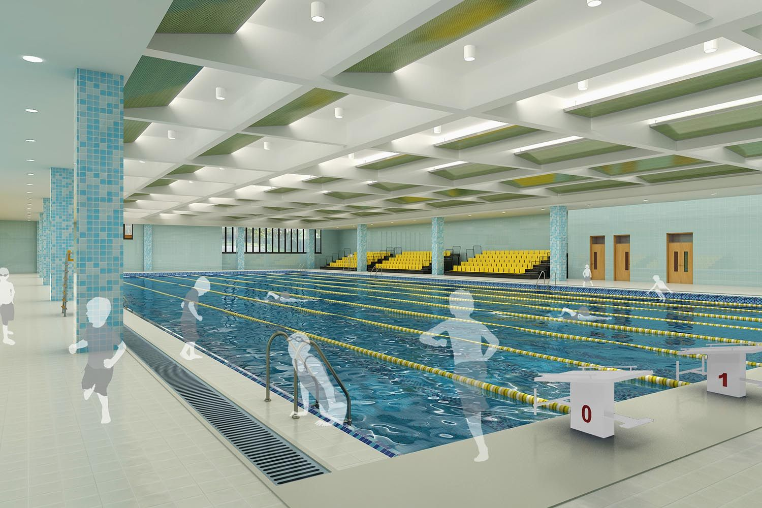 The swimming pool at Shanghai Huaer Collegiate School
