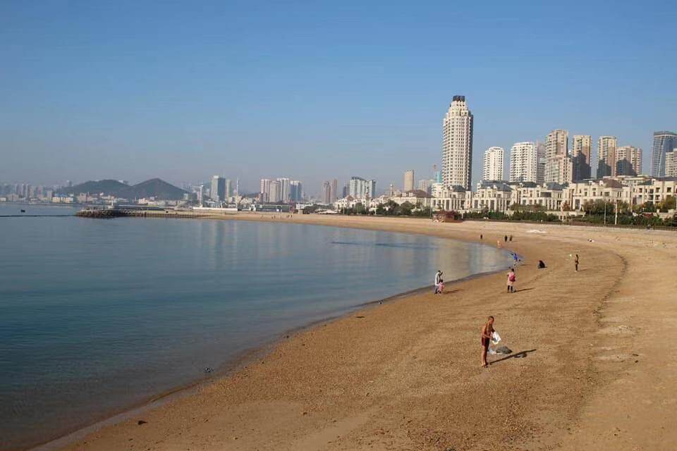 The city beach in Dalian, China