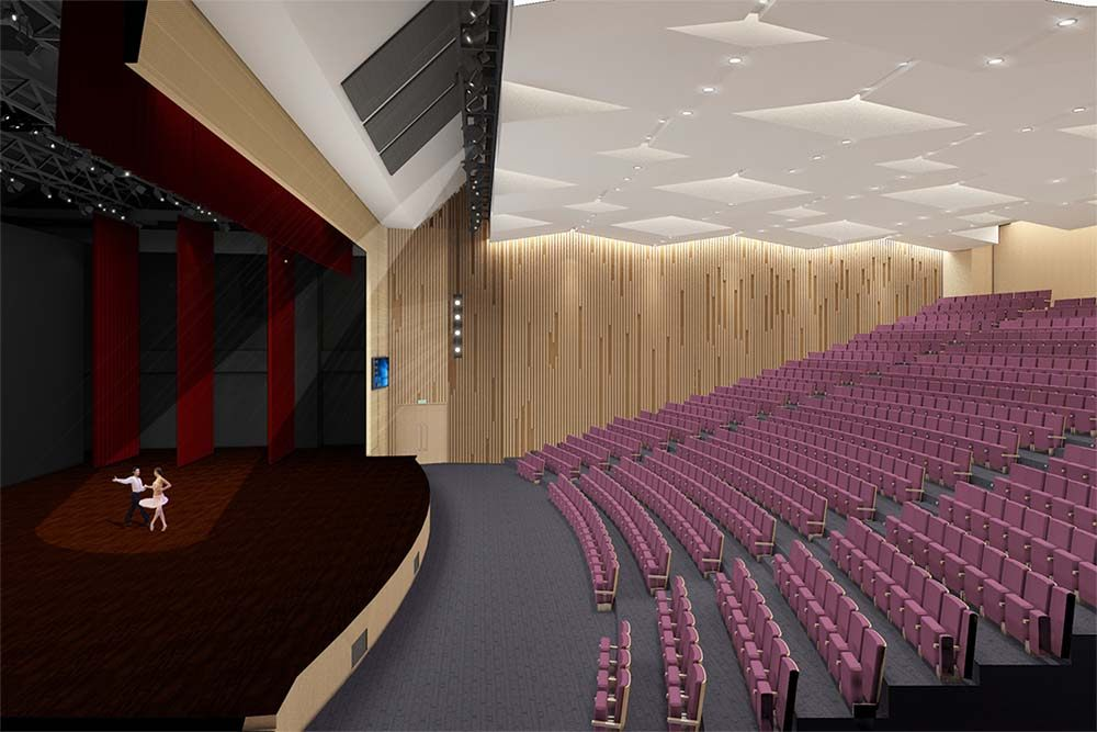 The theatre in Shanghai Huaer Collegiate School